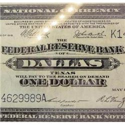 1918 $1 National Currency