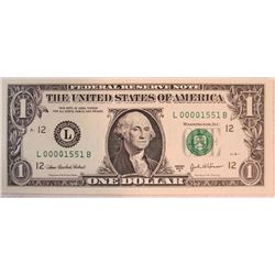 2003 A $1 Federal Reserve Note