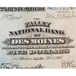 1902 $5 National Currency