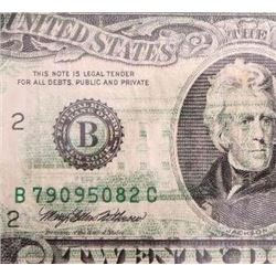 1993 $20 Federal Reserve Note Error