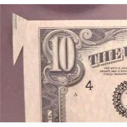 1950-B $10 Federal Reserve Note Error