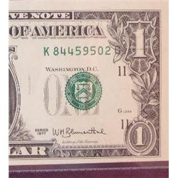 1977 $1 Federal Reserve Note Error
