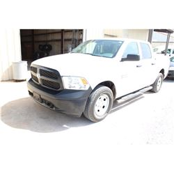 2015 DODGE 1500 Pickup Truck; VIN/SN:1C6RR7KG1FS738443 -:- 4x4, crew cab, A/T, AC, bed cover, 53,503