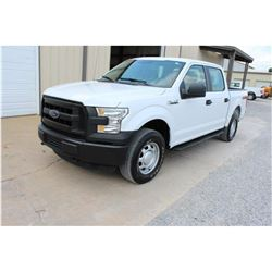 2016 FORD F150 Pickup Truck; VIN/SN:1FTEW1EF6GFC39499 -:- 4x4, crew cab, V8 gas, A/T, AC, 59,906 mil