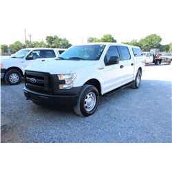 2016 FORD F150 Pickup Truck; VIN/SN:1FTEW1EF2GFB44499 -:- 4x4, crew cab, V8 gas, A/T, AC, camper she