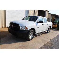 2015 DODGE 1500 Pickup Truck; VIN/SN:1C6RR7KG4FS738730 -:- 4x4, crew cab, V6 gas, A/T, AC, bed cover