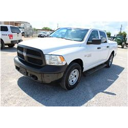 2015 DODGE 1500 Pickup Truck; VIN/SN:3C6RR7KT3FG626456 -:- 4x4, crew cab, V8 gas, A/T, AC, bed cover