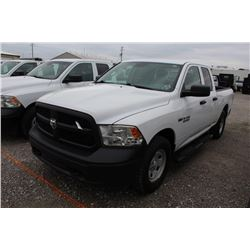 2015 DODGE 1500 Pickup Truck; VIN/SN:1C6RR7FT9FS765350 -:- 4x4, ext. cab., V8 gas, A/T, AC, 50,863 m