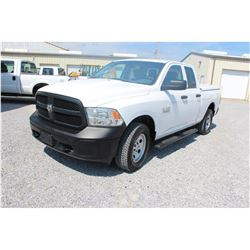 2015 DODGE 1500 Pickup Truck; VIN/SN:1C6RR7FG3FS747459 -:- 4x4, ext. cab, V6 gas, A/T, AC, bed cover