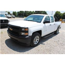 2015 CHEVROLET 1500 Pickup Truck; VIN/SN:1GCRCPEC2FZ212851 -:- ext. cab, V8 gas, A/T, AC, 65,796 mil
