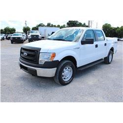 2014 FORD F150 Pickup Truck; VIN/SN:1FTFW1EFXEKE58376 -:- 4x4, crew cab, V8 gas, A/T, AC, bed cover,
