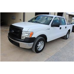 2014 FORD F150 Pickup Truck; VIN/SN:1FTFW1CF9EKE85801 -:- crew cab, V8 gas, A/T, AC, 51,477 miles