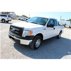 2014 FORD F150 Pickup Truck; VIN/SN:1FTEX1CM3EFA85345 -:- ext. cab, V6 gas, A/T, AC, 50,540 miles