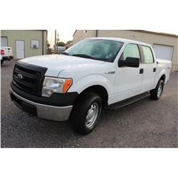 2013 FORD F150 Pickup Truck; VIN/SN:1FTFW1EFXDKF06019 -:- 4x4, crew cab, V8 gas, A/T, AC, bed cover,