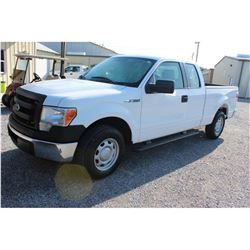 2013 FORD F150 Pickup Truck; VIN/SN:1FTEX1CM6DKE99693 -:- ext. cab, V6 gas, A/T, AC, 59,253 miles