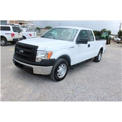 2013 FORD F150 Pickup Truck; VIN/SN:1FTEX1CM4DKE99692 -:- ext. cab, V6 gas, A/T, AC 65,396 miles