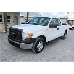 2012 FORD F150 Pickup Truck; VIN/SN:1FTEX1CM2CFB96482 -:- ext. cab, V6 gas, A/T, AC, 58,450 miles