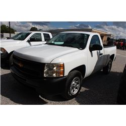 2011 CHEVROLET 1500 Pickup Truck; VIN/SN:1GCNCPEA0BZ325639 -:- V8 gas, A/T, AC, 31,464 miles