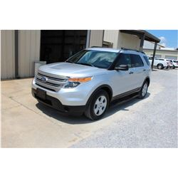 2014 FORD EXPLORER; VIN/SN:1FM5K8B82EGB80089 -:- 4x4, V6 gas, A/T, AC, 3rd row seating, 82,455 miles