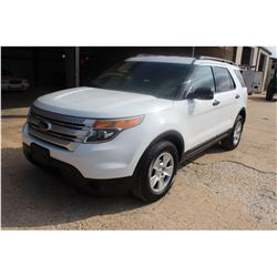 2013 FORD EXPLORER; VIN/SN:1FM5K8B84DGC96442 -:- 4x4, V6 gas, A/T, AC, 3rd row seating, 68,843 miles