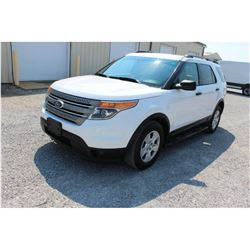2013 FORD EXPLORER; VIN/SN:1FM5K8B87DGC40883 -:- 4x4, V6 gas, A/T, AC, 3rd row seating, 75,716 miles