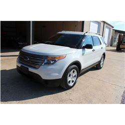 2012 FORD EXPLORER; VIN/SN:1FMHK8B80CGA21131 -:- 4x4, V6 gas, A/T, AC, 3rd row seating, 73,380 miles