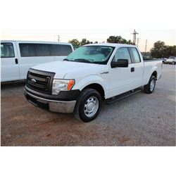 2014 FORD F150 Pickup Truck; VIN/SN:1FTEX1CMXEFA85326 -:- ext. cab, V6 gas, A/T, AC, 57,615 miles
