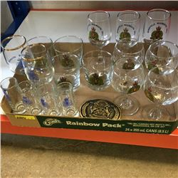 Tray Lot : RCMP Collectibles (Glasses, Buckle, Buttons)