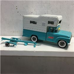 Buddy L Truck & Camper & Trailer (Missing a couple of pieces)