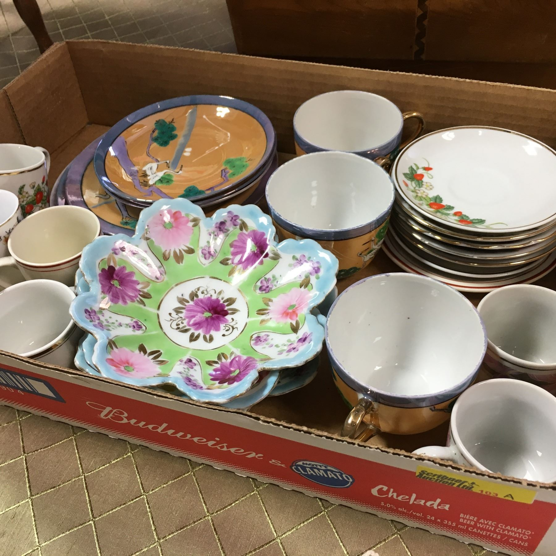 Tray Lot: Assorted China (Nippon, China, Avon Brazil)