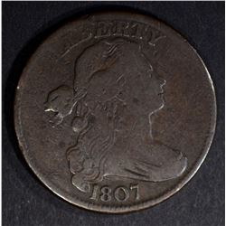 1807 DRAPED BUST LARGE CENT, F/VF