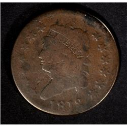 1812 CLASSIC HEAD LARGE CENT G/VG