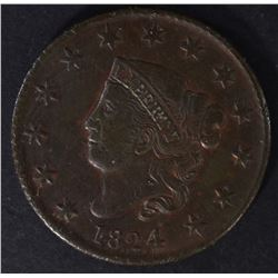 1824 LARGE CENT, XF