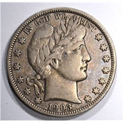 1903 BARBER HALF DOLLAR, XF