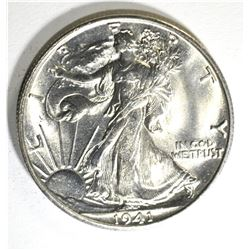1941-S WALKING LIBERTY HALF GEM BU BLAST WHITE