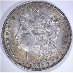1886-O MORGAN DOLLAR, 100% ORIGINAL AU++