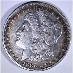 1886-S MORGAN DOLLAR VF,  SEMI-KEY