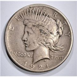 1921 PEACE DOLLAR VERY FINE