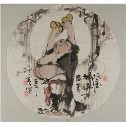 Chinese Painting of Buddha Seal & Signed