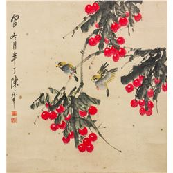 CHEN BANDING Chinese 1879-1970 Watercolor Scroll