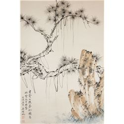WU HUFAN Chinese 1894-1968 Watercolor Scroll