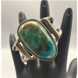 Vintage Sterling Silver and Chrysocolla Bracelet