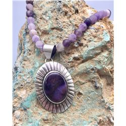 Sugalite and Amethyst Necklace