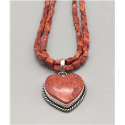 "Coral ""Heart"" Necklace"