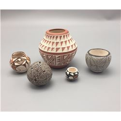 Group of 5 Acoma Pots