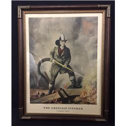 4 Currier and Ives, Firefighter Prints
