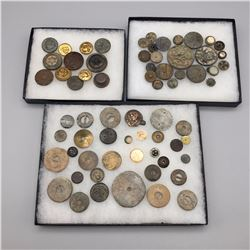 Group of Antique Button Displays