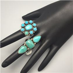 Pair of Turquoise Rings
