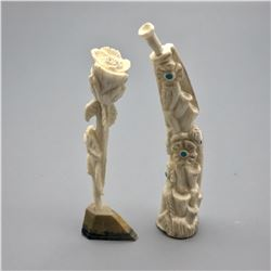 Pair of Zuni Carved Horn Fetishes