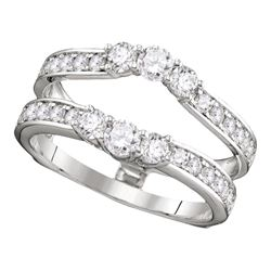 1 CTW Diamond Ring 14KT White Gold - REF-97N4F